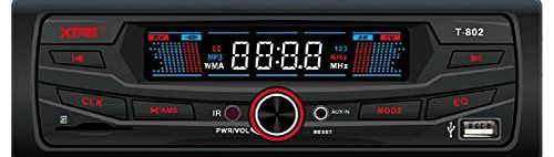 EARLYBIRD SAVINGS Car Audio Stereo In Dash FM Music Radio Receiver with Mp3 Player & USB SD Input AUX Receiver