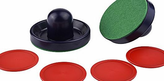 eBoot 2 Pcs 96mm Air Hockey Pushers with 4 Pcs 63mm Table Pucks