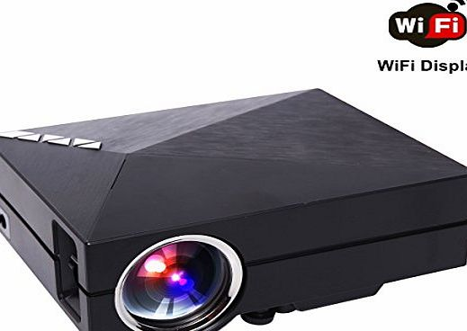 Edeelink WiFi Wireless Projector, Edeelink GM60A Wireless Display WIFI Mini Portable LED LCD Home Theater Projector Private Cinema Beamer support PC XBOX PS3 PS4 DVD TV with VGA/USB/SD/AV/HDMI Miracast Airplay