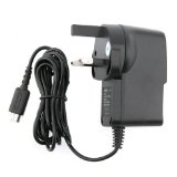 UK Wall Home Travel Charger for Nintendo DS Lite Black - by Eforcity