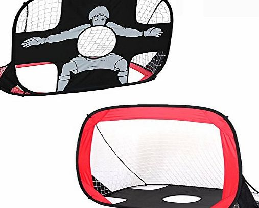 Eggsnow 2 in 1 Pop Up Soccer Goal,Portable Football Posts Foldable Soccer Net,Durable Polyester Mesh Frame,Perfect for Indoor amp; Outdoor Sports and Practice(43.3*31.5*31.5In)