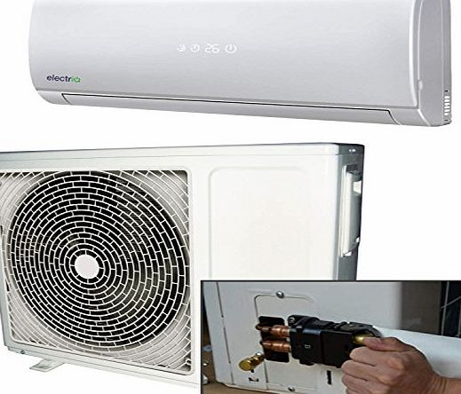 ElectrIQ 9000 BTU Panasonic Powered Quick Connector Wall Mounted DC Inverter Air Conditioner with 4 metres pipe kit - Wall Mounted Air Conditioning Unit with 5 years warranty