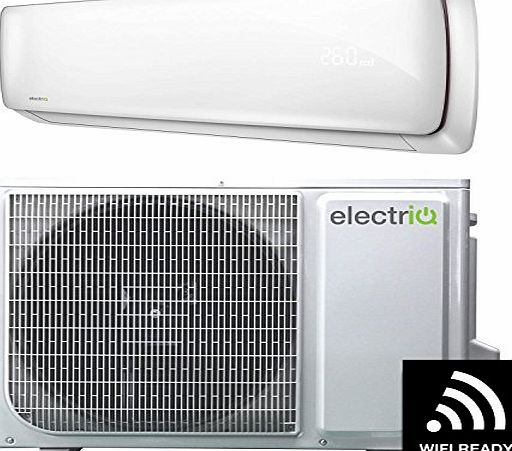 ElectrIQ 9000 BTU Smart WiFi A   easy-fit DC Inverter Wall Split Air Conditioner with 5 meters pipe kit - Wall Mounted Air Conditioning Unit with 5 years warranty