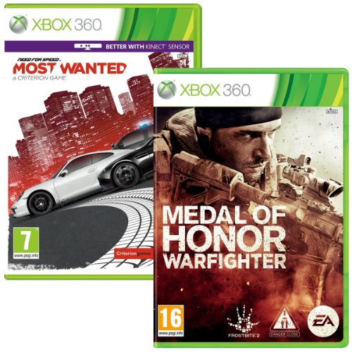 Medal of Honor Warfighter and Need for Speed Most Wanted Bundle (Xbox 360)