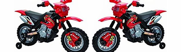 New Rechargeable RED Ride on Kids Motocross Electric Scrambler Motorbike 6V Battery Operated Electric Bike