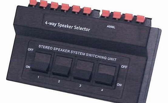 4 Way Stereo Speaker Switch