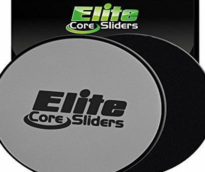 Elite sportz equipment Core Exercise Sliders - 2 Dual Sided Gliding Discs for Carpet and Hard Floors - Silver