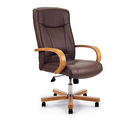 Eliza Tinsley Ltd Pepperdine Leather Faced Office Chair