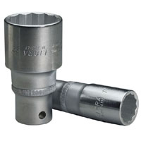 30mm 1/2andquot Square Drive Deep Bi Hexagon Socket