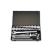 31 Piece 3/4andquot Square Drive Metric and Imperial Socket Set