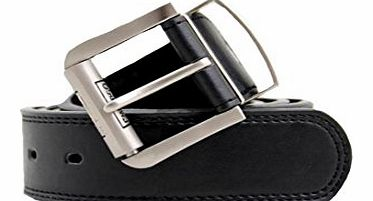 Mens Embargo Pierre Roche Designer Leather Belt Buckle Black Belts S M L XL XXL (LARGE, BUCKLE BLACK 98A011)