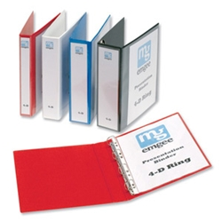 A4 50mm 4D Presentation Binders Red (Pack 4)