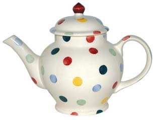 EMMA BRIDGEWATER Polka Dot Two Cup Teapot