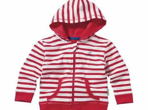 Emma Bunton Boys Red Striped Hoodie - 6-9 Months