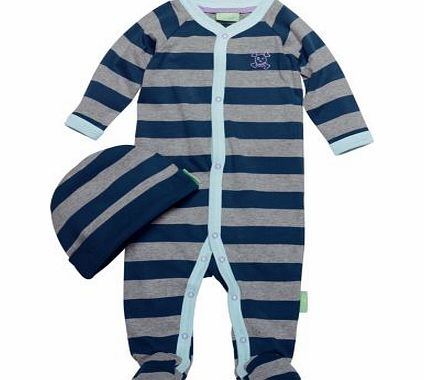Emma Bunton Boys Striped All in One and Hat -