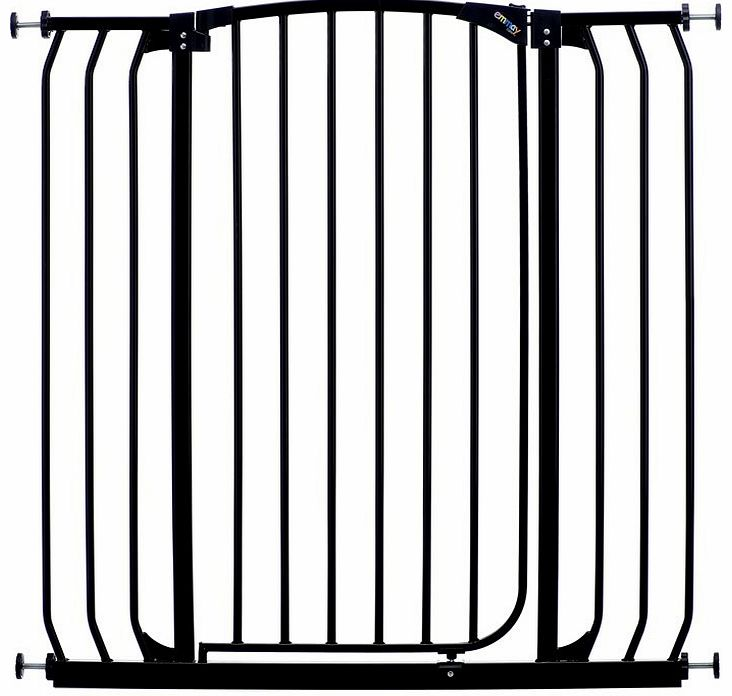 Emmay Care Tall & Wide Safety Gate-Black (Fits