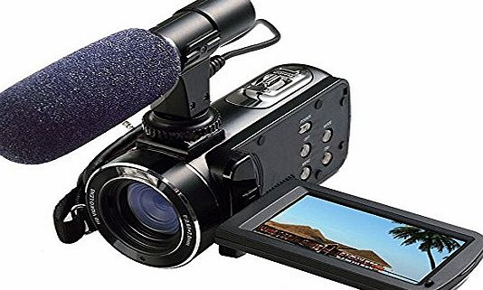 Emperor of Gadget Ordro Full HD Digital Video Camera with External MIC, Model HDV-Z20 (Includes 8GB SD Card as a Free Bonus!) - Digital Camcorder with Professional Camera Mounted Shotgun Boom Microphone by Emperor of G