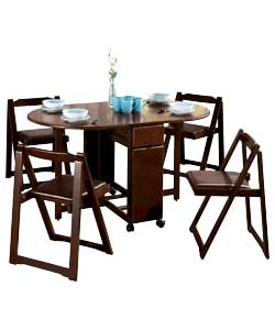 Oval Chocolate Butterfly Dining Set