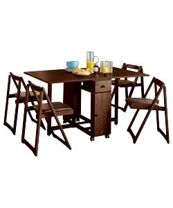 Rectangular Chocolate Butterfly Dining Set
