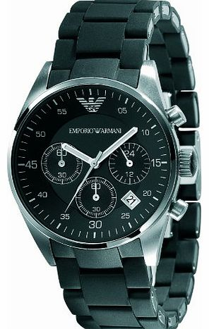 Ladies Chronograph Sport Watch, Round Case Stainless Steel Bracelet with Black Silicone covering.