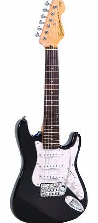 3/4 Size Electric Guitar - Gloss Black