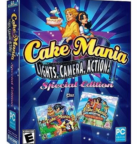Cake Mania: Lights, Camera, Action! Special Edition - 3 Games (PC CD)