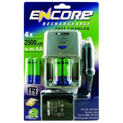 Encore Fast Charger   4 x 2500mAh Batteries