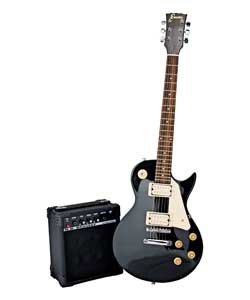 Single Electric Cut-away Black Guitar Outfit
