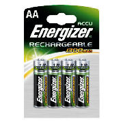 1300mAh AA 4 Pack Rechargeable Batteries