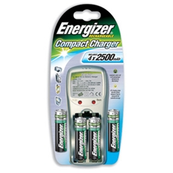 Energizer Battery Charger Ultra Compact with 4x