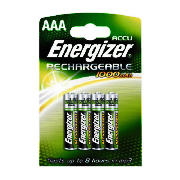 Rechargeable Pack of 4 AAA Batteries