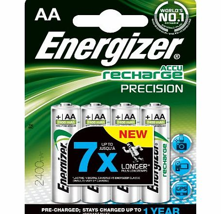 Energizer Rechargeable Precision AA 2400mAh Batteries - Pack of 4