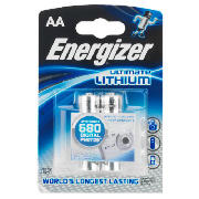 Ultimate Lithium AA batteries, 2 pack