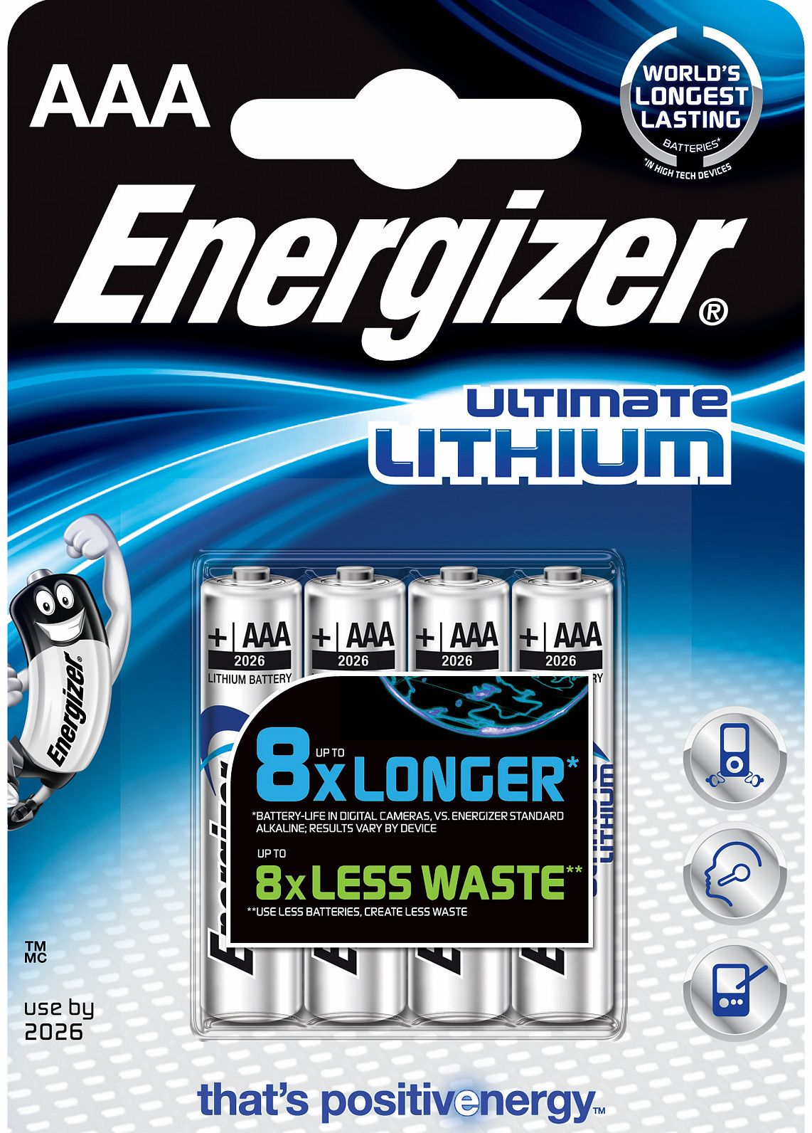 Ultimate Lithium AAA Batteries 4 Pack