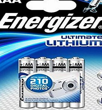 Ultimate Lithium Batterry: 8pcs Energizer L91 AAA Batteries (Twin Packs of 3+1 Free)