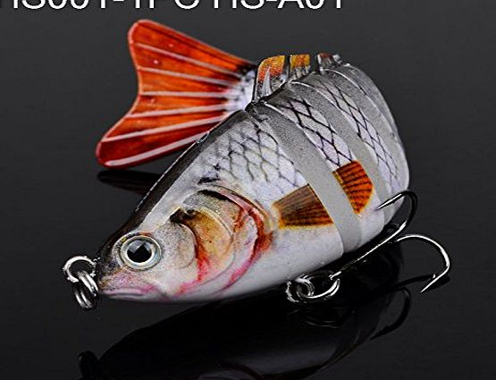 enjoydeal  3.9 Bass Pike Killer Multi Jointed Fishing Lure Swim Bait Life-like #01