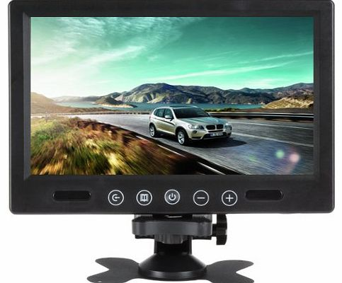 9 Inch 800 x 600 Pixels High Resolution Pillow TFT LCD Color Screen Car RearView Mirror Monitor Support Two Auto Ways Of Video Output V1/V2 Selecting Widescreen Car Rear View Monitor With
