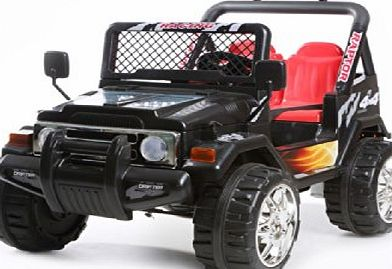 Epic Black 2 Seater 4x4 Truck - 12V Kids Electric Ride On Car
