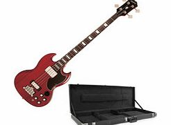 EB-3 SG Bass Guitar Cherry with Hard Case