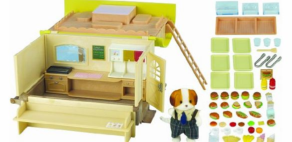 Sylvanian Family 2786 Dolls House Hamburger Wagon with Doughty Dog Father