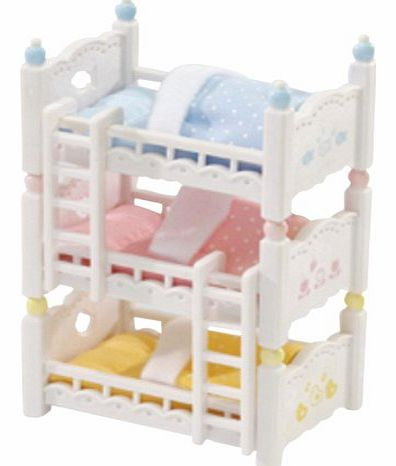 Sylvanian Family 2919 Dolls House Bunk Beds 3-Layer for Babies