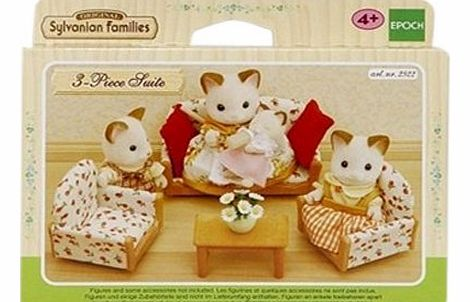 Sylvanian Family 2922 Dolls House Accessories - Sofa / 2 Armchairs / Coffee Table