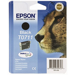 Genuine Black Epson T0711 Ink Cartridge -