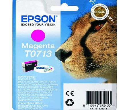 Epson Original T0713 Durabrite Magenta Ink Cartridge