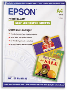 Photo Quality Self-adhesive Sheets Matt