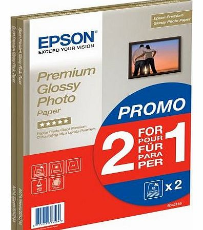 Premium Glossy Photo Paper/A4 2 x 15sh (1 Plus 1)