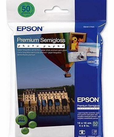 Premium Semigloss Photo Paper - Semi-gloss photo paper - 100 x 150 mm - 251 g/m2 - 50 Sheets