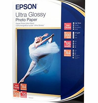 Epson Ultra Glossy Photo Paper - Glossy photo paper - A4 (210 x 297 mm) - 15 sheet(s)