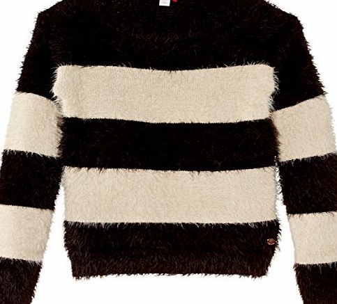 Girls 104EE5I004 Striped Jumper, Black, 9 Years (Manufacturer Size:X-Small)