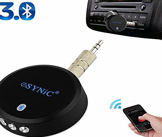 eSynic Car Aux Bluetooth 3.0 A2DP Audio Stereo Receiver Music Adapter Dongle for Apple iPhone iPod iPad Sam